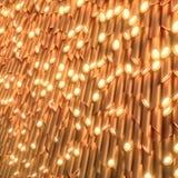 Guld- ylinders med lampor på sluten framförande 3d vektor illustrationer