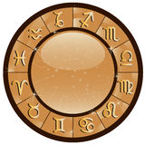Guld- zodiakcirkel Royaltyfri Foto