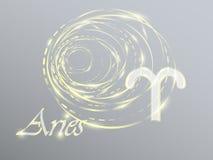Guld- zodiaktecken Arkivfoton