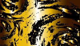 Guldabstrakt begreppcirklar Royaltyfria Bilder
