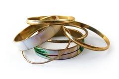 Guldarmband 2 Fotografering för Bildbyråer