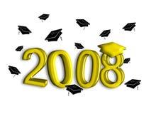 guldavläggande av examen 2008 Arkivbild