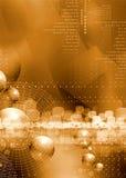 Guldbakgrund Arkivfoto