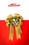 Guldband med bowen Royaltyfri Fotografi