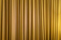 guldbilden för gardinen 3d framför Arkivfoto