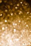 GuldBokeh lampa Royaltyfri Bild