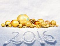 Guldbollar Arkivfoto