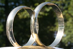 guldcirkel Royaltyfria Bilder