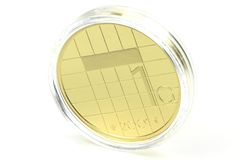 1 gulden guld- mynt Arkivfoton