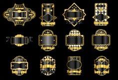 guldetiketter vektor illustrationer
