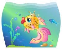 Guldfisk i ett akvarium Royaltyfri Fotografi
