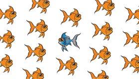 Guldfisk som är olik Arkivfoto