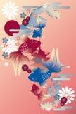 guldfiskjapan vektor illustrationer