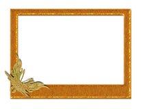 Guldfjärilsram Royaltyfria Bilder