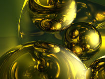 guldflytande Royaltyfri Foto