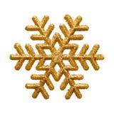 GuldGliter Snowflake Arkivfoto