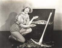 Guldgrävare arkivfoto