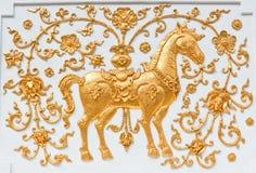guldhäst Royaltyfri Bild