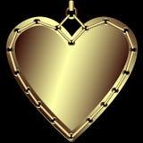 guldhjärta Arkivbilder