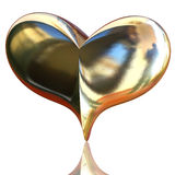 guldhjärta Arkivfoto