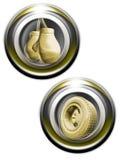 guldiconsetsportar vektor illustrationer