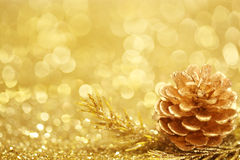 Guldjulbakgrund Fotografering för Bildbyråer
