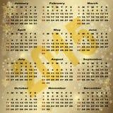 Guldkalender för nytt år 2015 Arkivbild