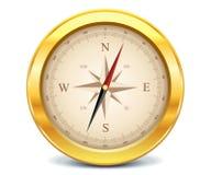 Guldkompass vektor illustrationer