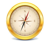 Guldkompass Royaltyfria Foton