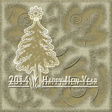 guldkort för lyckligt nytt år Royaltyfria Bilder