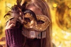 guldmaskering Royaltyfria Foton
