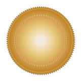 Guldmedalj (vektor) Arkivfoton