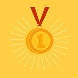 Guldmedaljutmärkelse Arkivbild