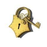 Guldpadlock Arkivbild