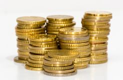 guldpengar Arkivbilder