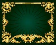 guldprydnad stock illustrationer