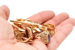 guldprydnadar Royaltyfri Bild