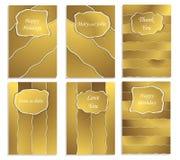Guldräkningar för hälsningkort Effekten av sönderrivet papper royaltyfri illustrationer