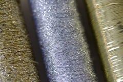 guldsilvertråd Arkivbilder