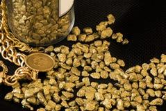 Guldstenar Arkivbild