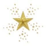 guldstjärnor royaltyfri fotografi