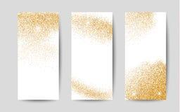 Guldstoft på vit bakgrund Guld blänker bakgrund Royaltyfria Foton