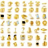 guldsymbolsmanöverenhet vektor illustrationer