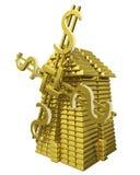 guldtackor mal Arkivbild