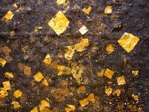 guldtextur Fotografering för Bildbyråer