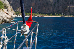 Gulet che arriva a Butterfly Valley in Turchia Immagine Stock