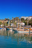 Gulet cruise boats in the old town of Kaleici Antalya Turkey Stock Images