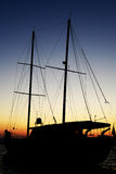 Gulet silhouette at sunset Stock Image