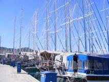 Gulets im Fethiye Jachthafen Stockbild