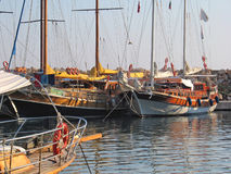 Gulets, Turquie Image libre de droits